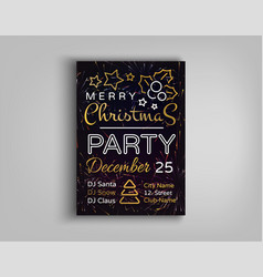 Christmas party card flyer invitation vector