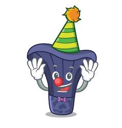 clown actarius indigo mushroom mascot cartoon vector image