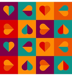 Colorful love pattern with hearts vector
