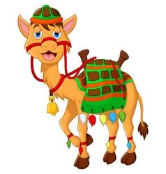 Cute camel cartoon walking vector