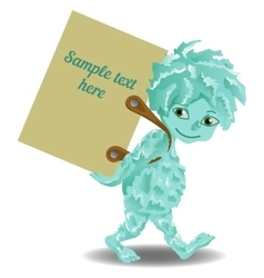 Cute cartoon monster vector image
