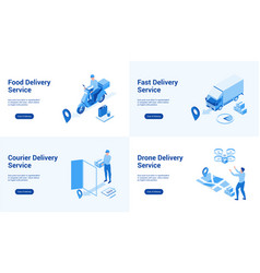 delivery services blue templates vector image