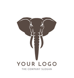 Elephant sign logo emblem -01 vector