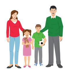 Family set cartoon vector