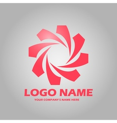 Geometric abstract logo icon vector