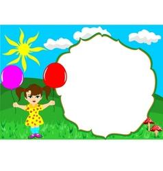 girl frame vector image