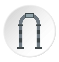 Gray arch icon flat style vector