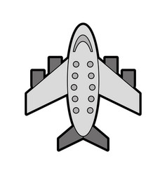 grey airplane cartoon vector image