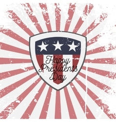 Happy Presidents Day Shield Sign vector image