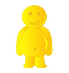 Happy yellow jelly baby vector