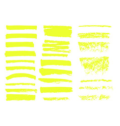 highlighter brush lines hand drawing vector image