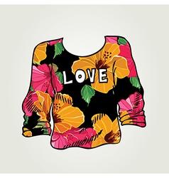 Hipster jumper vintage design vector