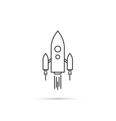 icon flying spaceship vector image