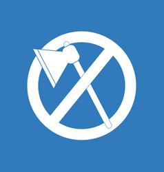 Icon no cutting vector