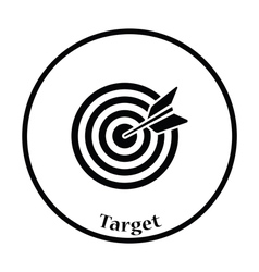 Icon of Target with dart vector image