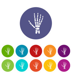 inflammation of hand icon simple style vector image