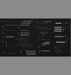 information touch callout headers elements hud vector image