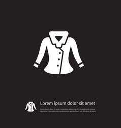 isolated jacket icon sweater element can vector image