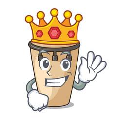 King conga mascot cartoon style vector
