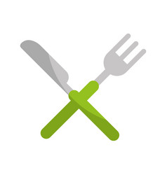 knife and fork cutlery isolated icon vector image