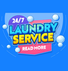 laundry service washing clothing textiles banner vector image