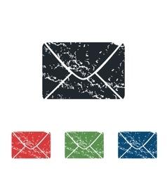 Letter grunge icon set vector image
