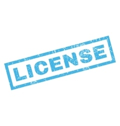License Rubber Stamp vector