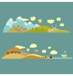 Natural landscapes vector image