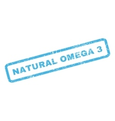 Natural omega 3 rubber stamp vector