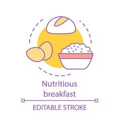 Nutritious breakfast concept icon vector