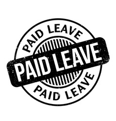 Paid leave rubber stamp vector