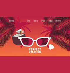 perfect vacation travel agency website design vector image