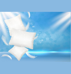 pillow ad poster banner design template vector image