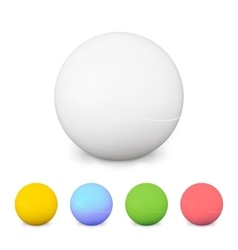 Ping pong balls set colorful 3d with shadow vector