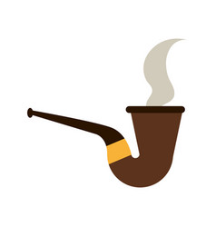 Pipe smoking icon image vector