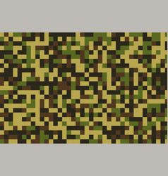 Pixelated military camouflage pattern texture vector