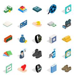 Pledge icons set isometric style vector