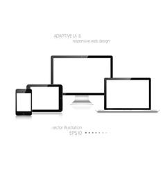 Responsive web design adaptive user interface vector