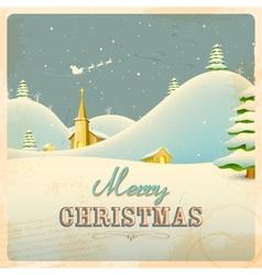 Retro Christmas Night vector