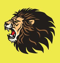 roaring lion logo mascot design template vector image