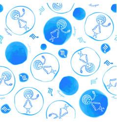 scorpio zodiac sign seamless pattern vector image
