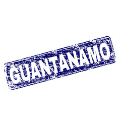 Scratched guantanamo framed rounded rectangle vector