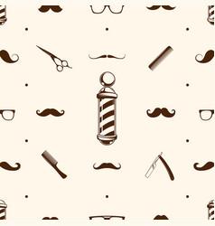 seamless barbershop pattern vector image