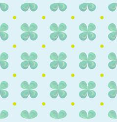 shamrock wallpaper clover leaves seamless pattern vector image