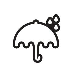Stylish black and white icon rain and umbrella vector