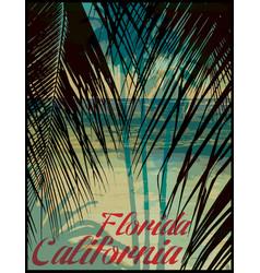 Summer theme california california vintage design vector