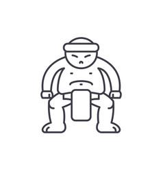 sumo line icon concept sumo linear vector image