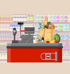 supermarket store retail groceries vector image