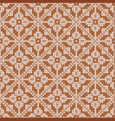 Traditional knitted seamless pattern with vector