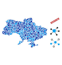 Ukraine map with crimea connections mosaic vector